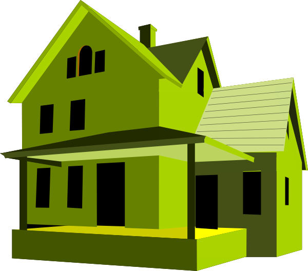 clipart house colored