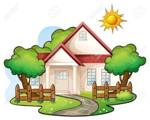 Houses clipart scenery. Home cliparti clip art