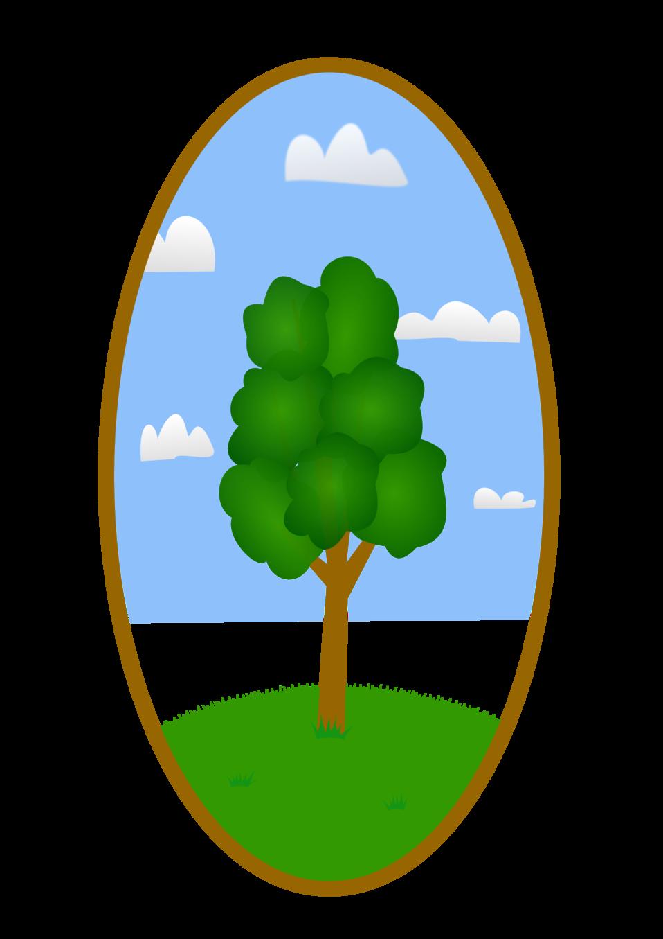 Public domain clip art. Tree clipart landscape