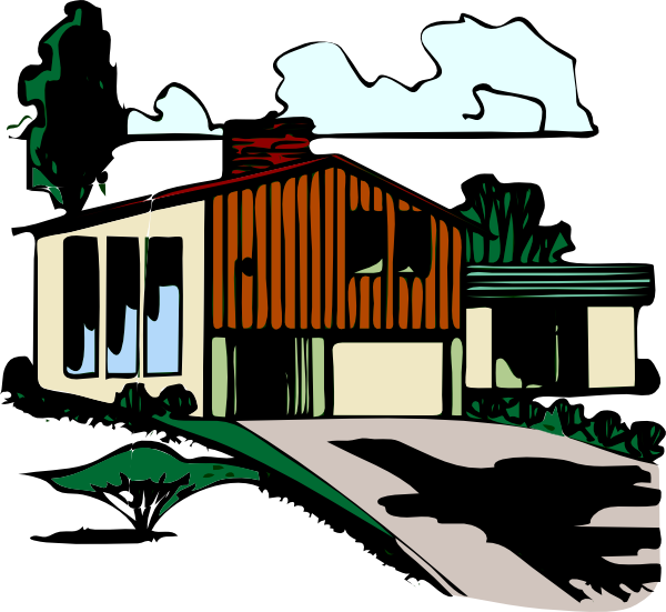 Houses clipart driveway. House with clip art