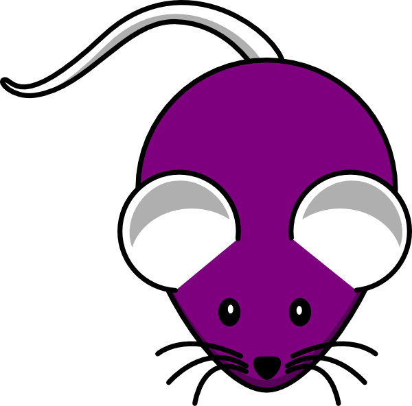 Clip art at clker. Purple clipart mouse