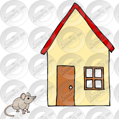 Mouse clipart home. House picture for classroom
