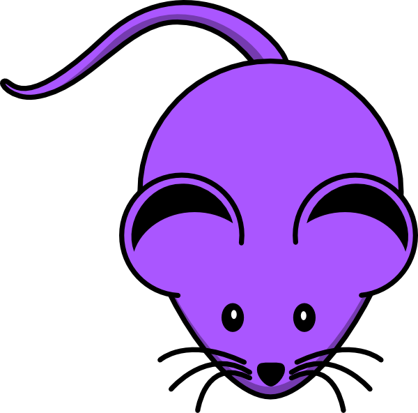 Purple clipart mouse. Clip art at clker