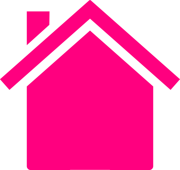 House outline panda free. Home clipart pink