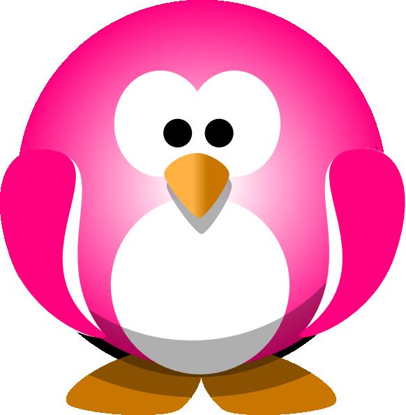 Clipart penquin colored. Pink penguin clip art