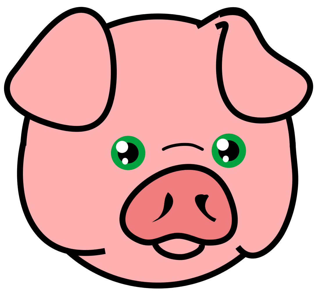 File pig icon svg. Pigs clipart home