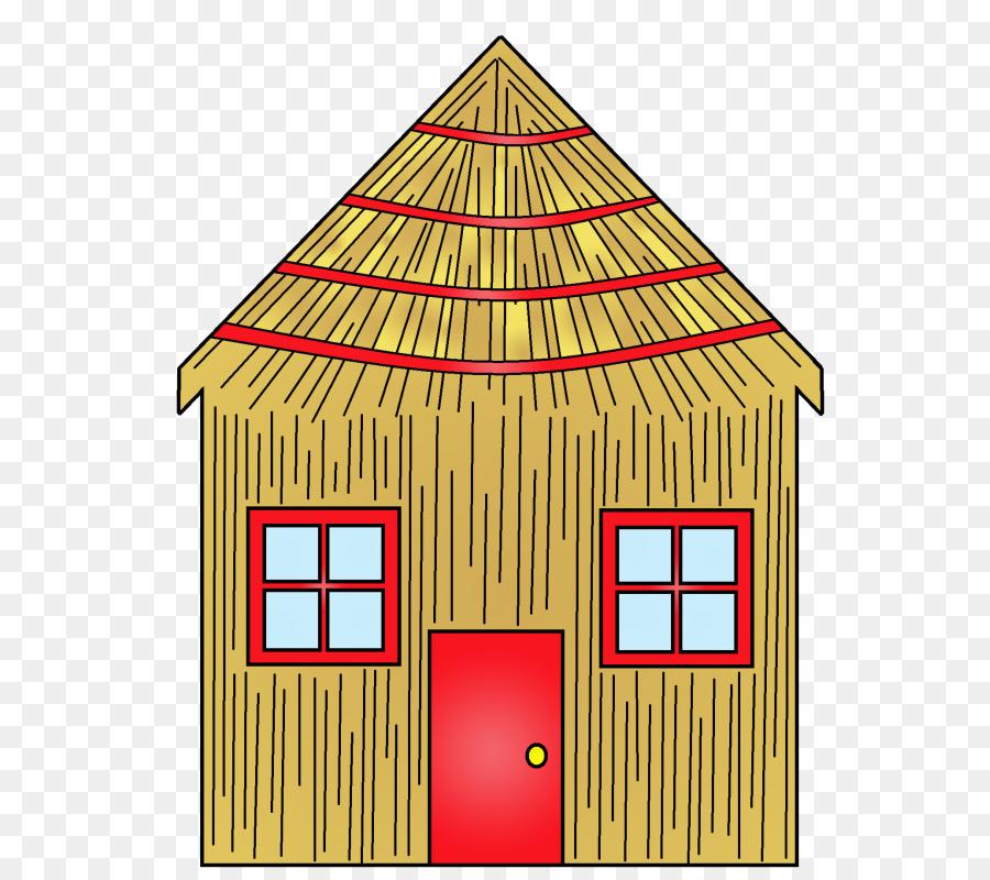 Pig cartoon house illustration. Pigs clipart home
