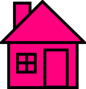 Free house cliparts download. Houses clipart pink