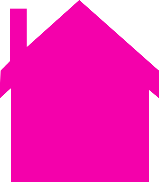 House silhouette at getdrawings. Home clipart pink