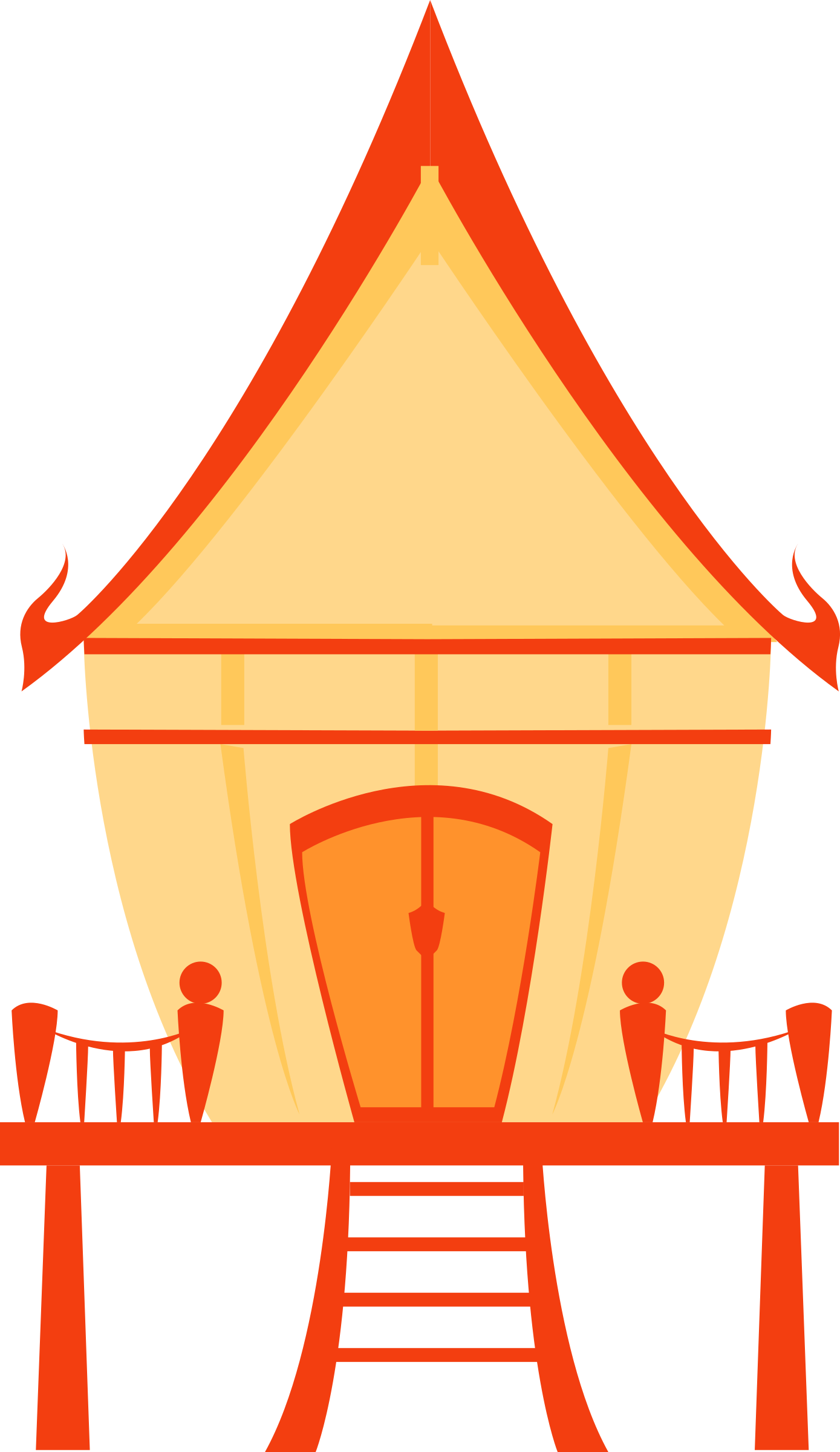 House clipart vector. Thai traditional big image