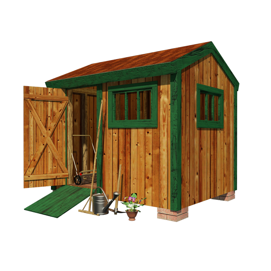 Garden tool shed plans. Logs clipart timber