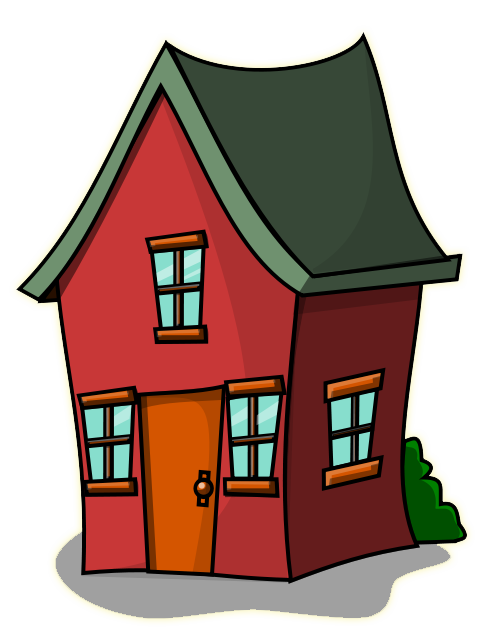 cottage clipart hause
