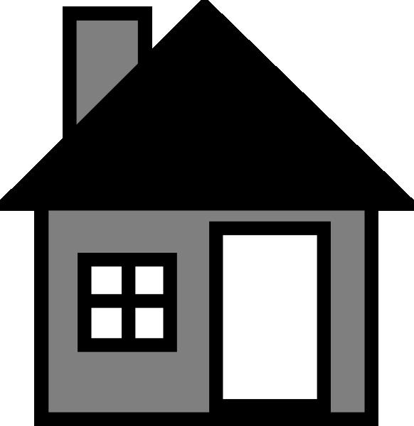 House the clip art. Houses clipart grey