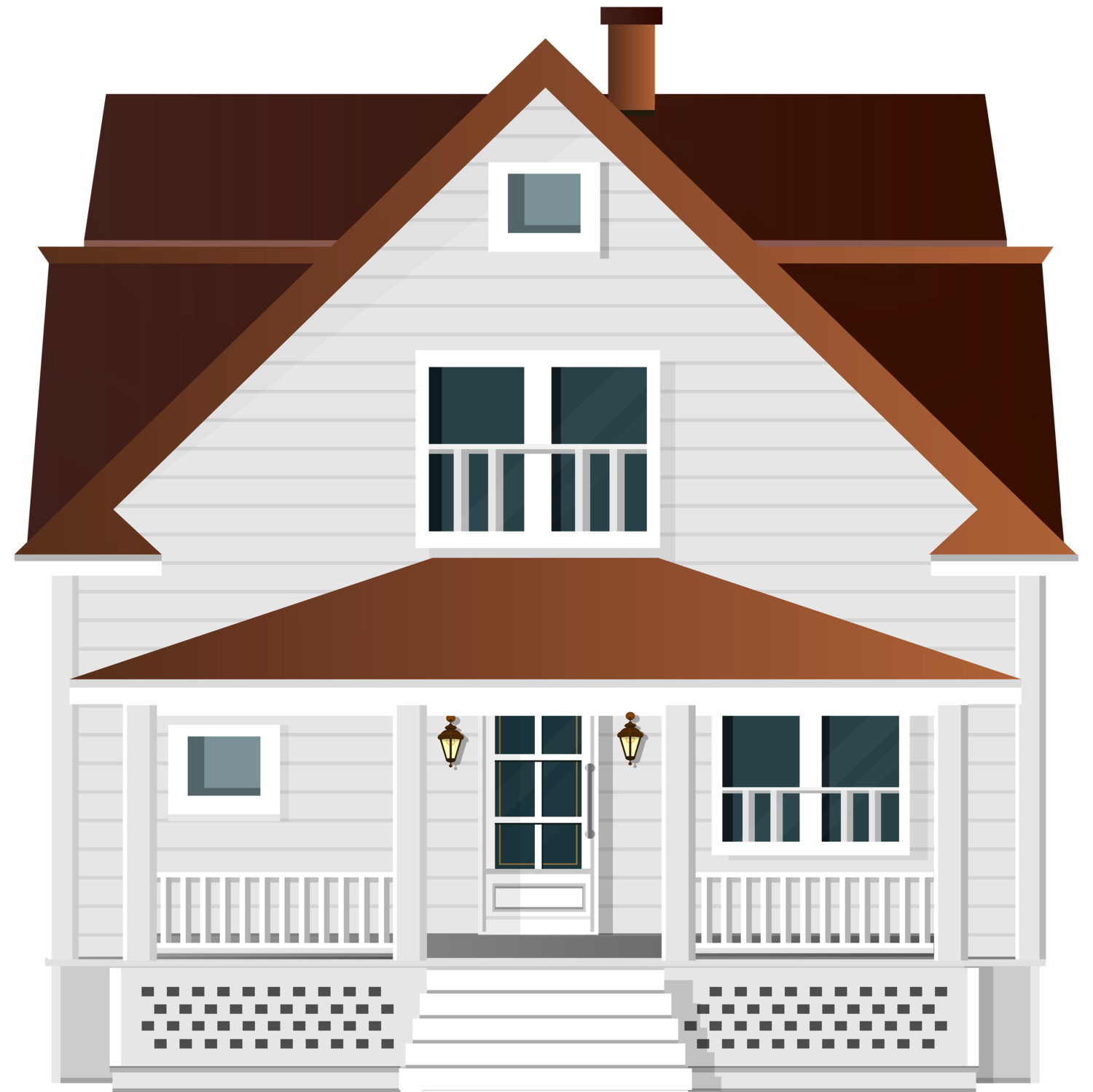 House png clipart. White clip art