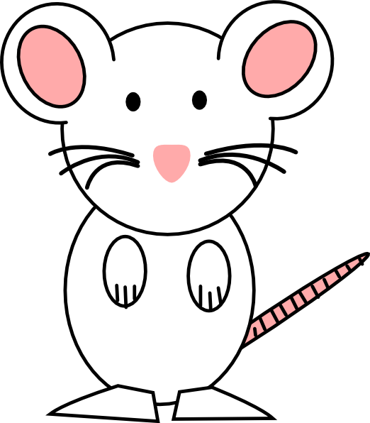 Clipart mouse standing. Pink clip art at