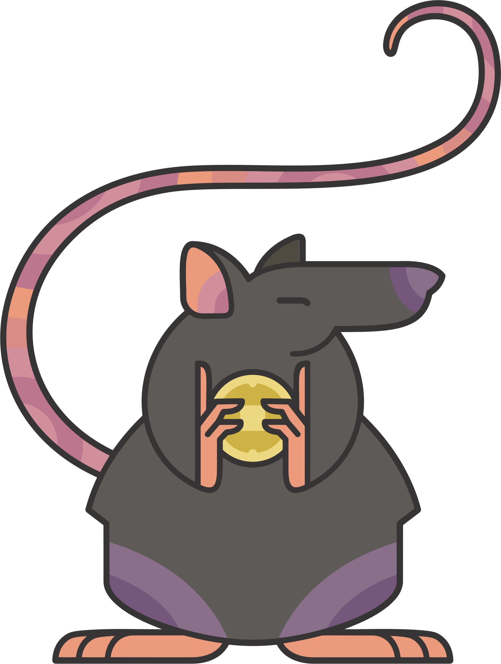 Clipart png cartoon. Stylized rat icons free