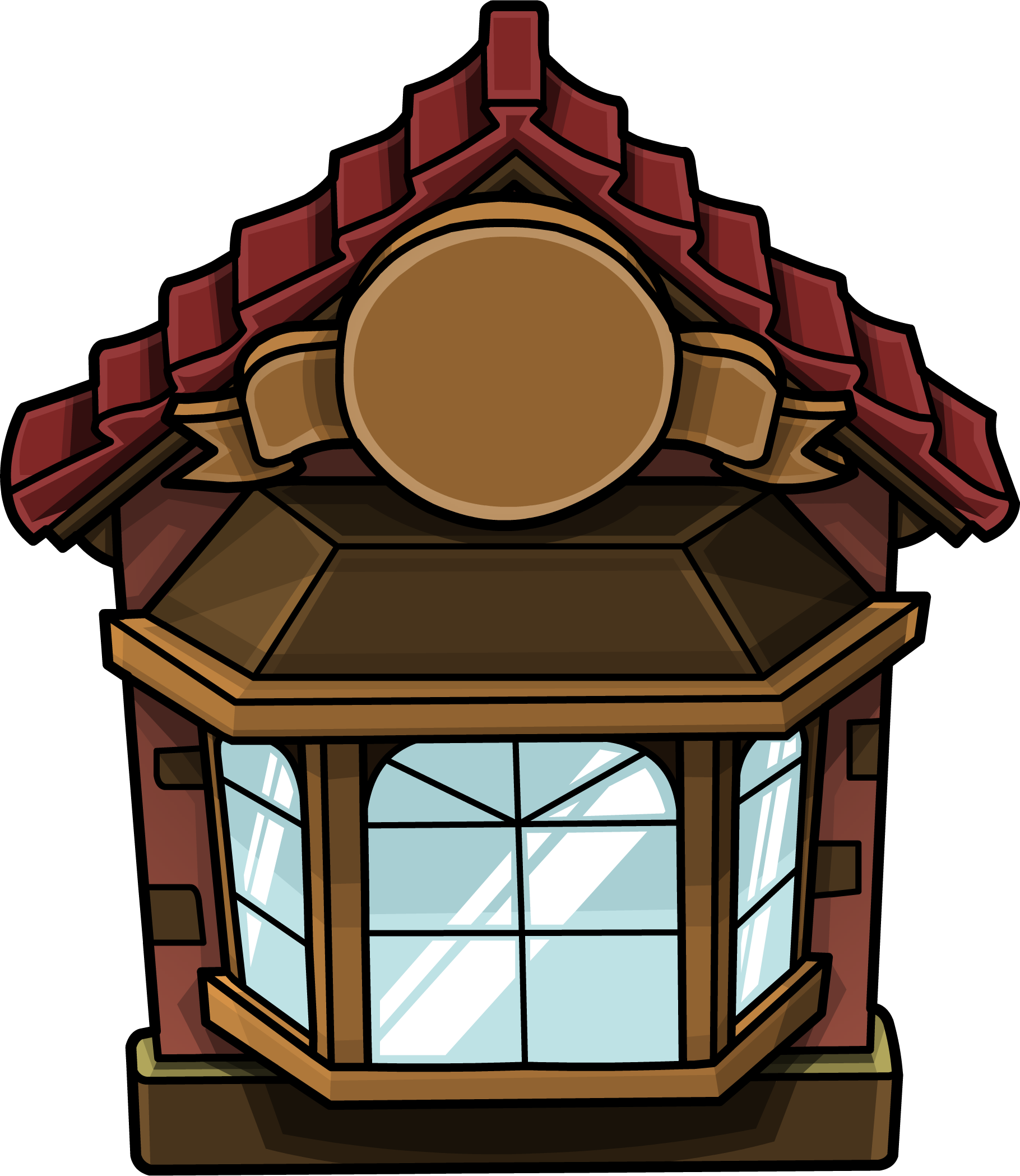 Cozy red club penguin. Furniture clipart house furniture