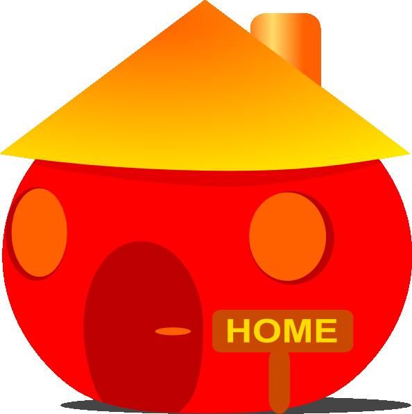 Home clip art at. House clipart orange
