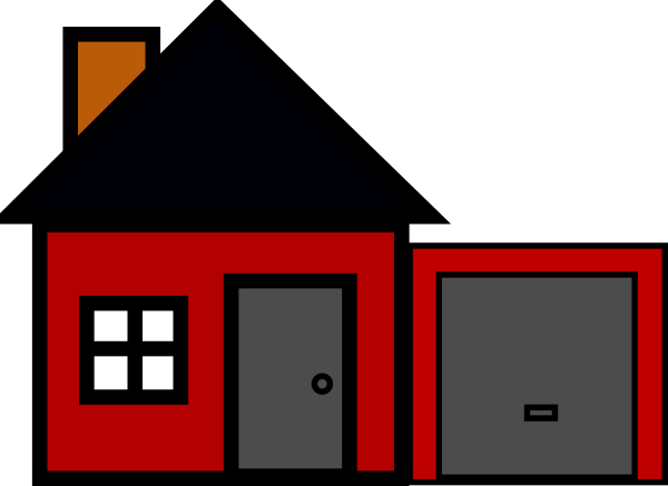 Clipart house garage. Free red cliparts download