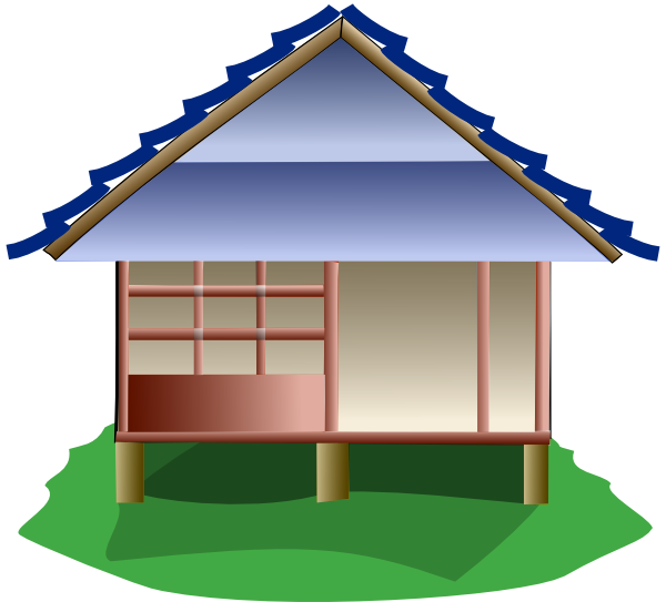 Hut clipart stone houses. House clip art at