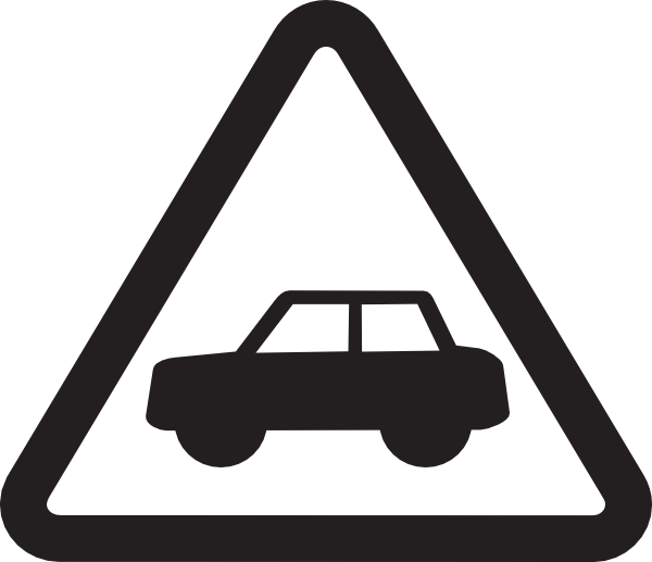 Safety first clip art. White clipart road