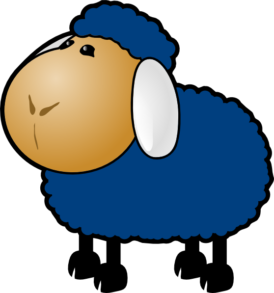 Blue clip art at. Home clipart sheep