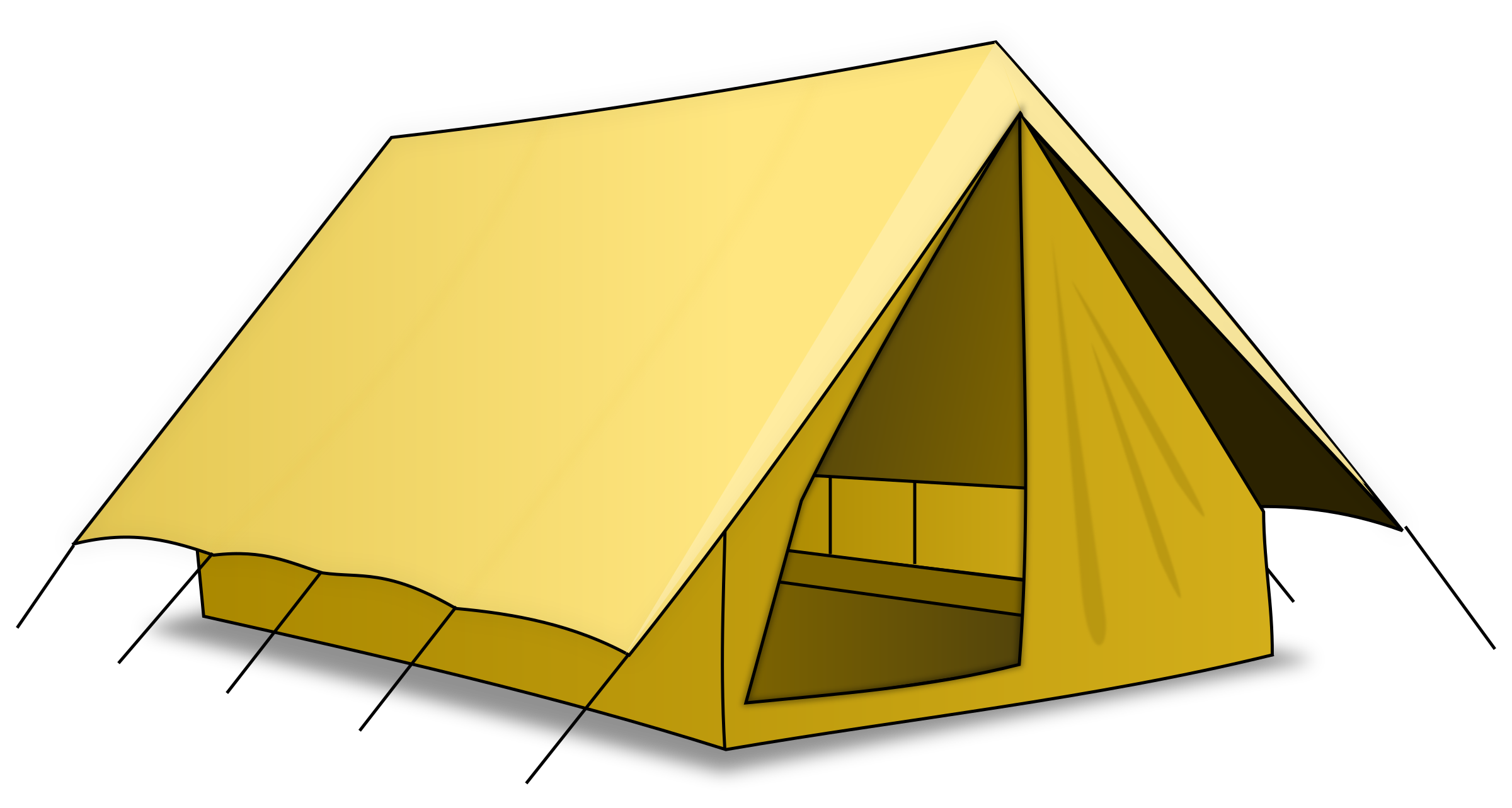 Clipart tent bedouin tent. Yellow png image purepng