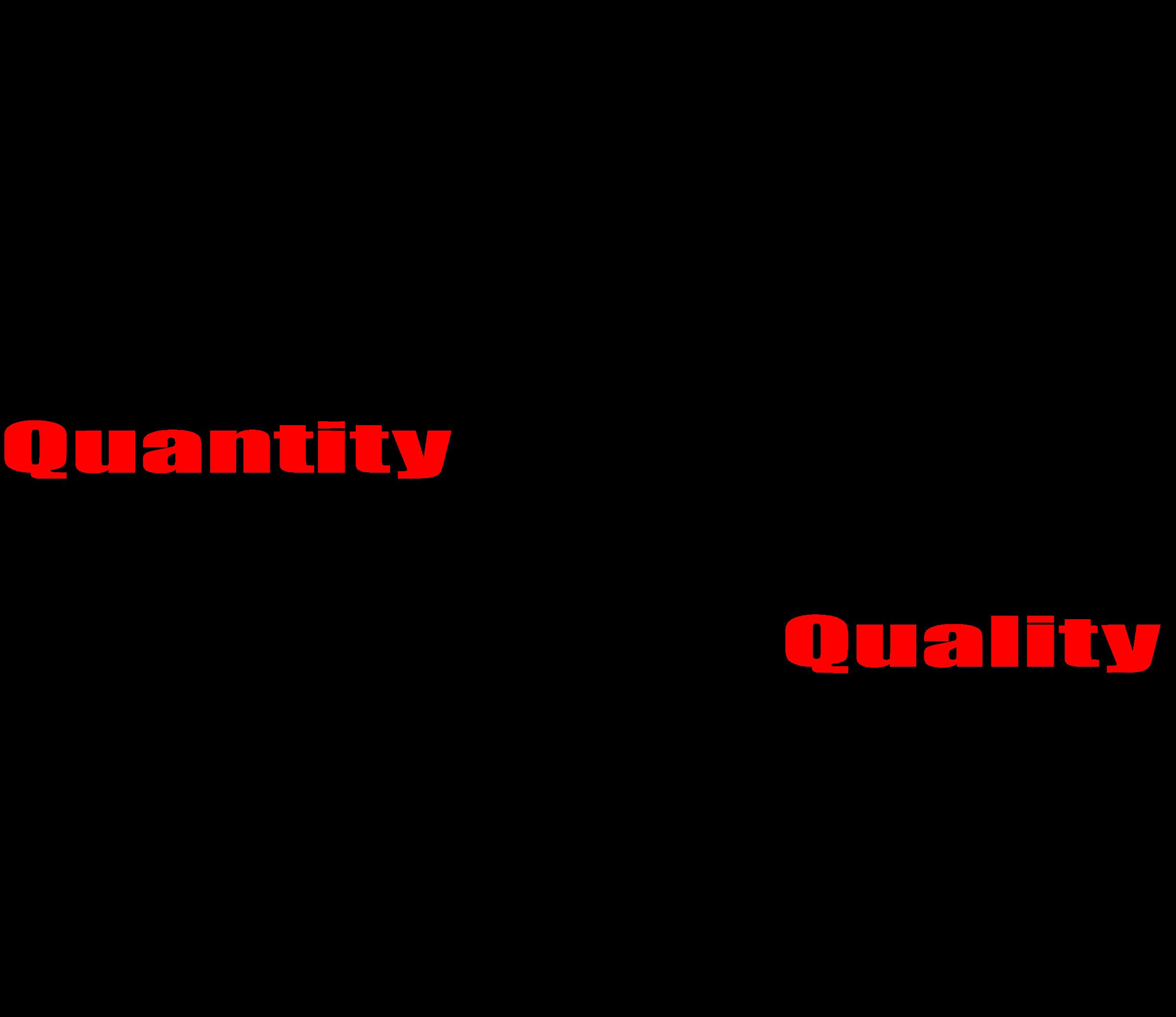 Court clipart government. Quality vs quantity big