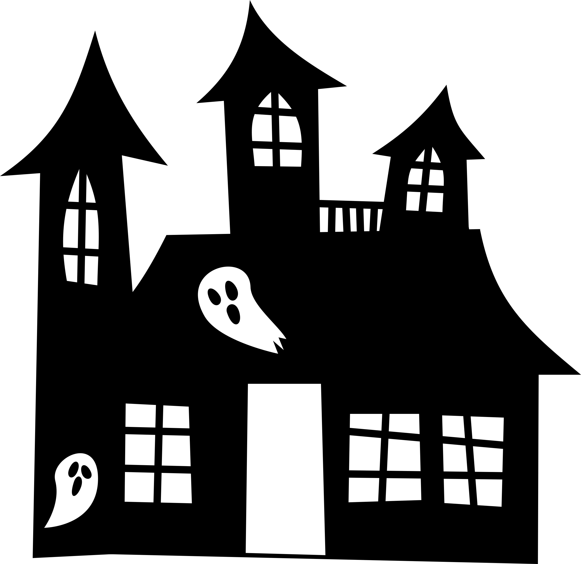 House silhouette png. Clipart haunted big image