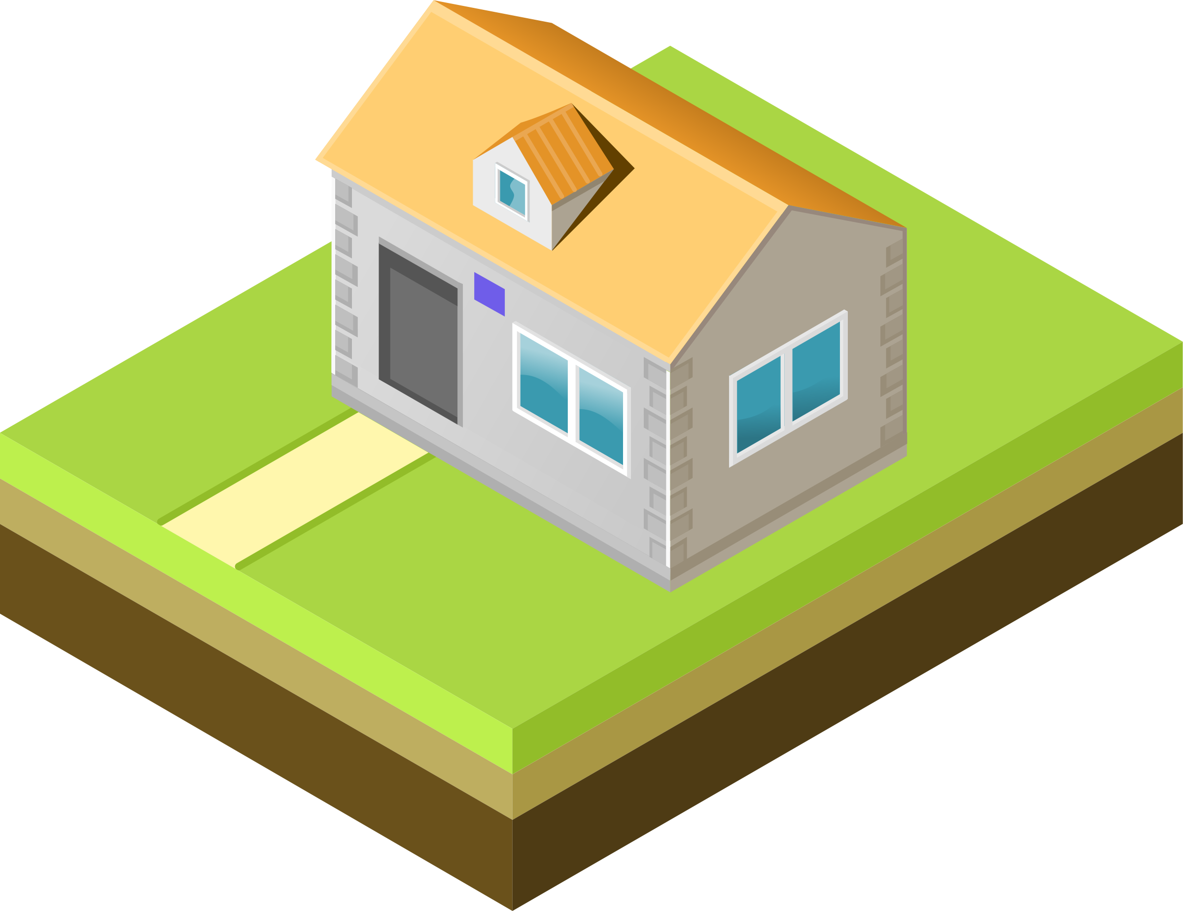 Cottage clipart house lot. Isometric big image png