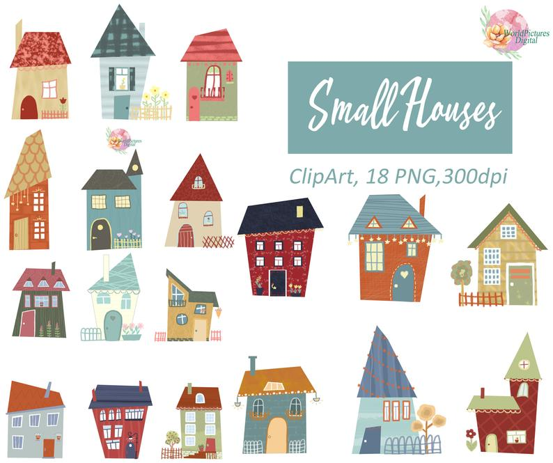 Houses set clip art. Clipart home thing