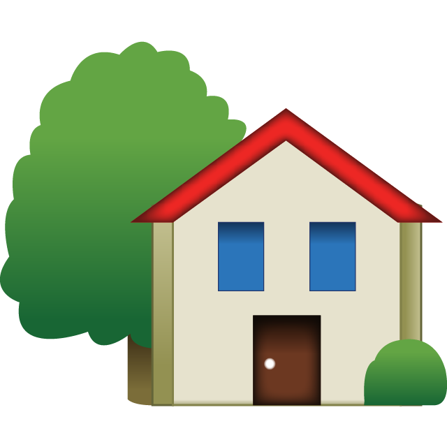 House emoji png. Download with tree island