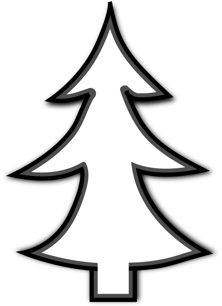 Clipart home tree. Free christmas outline download
