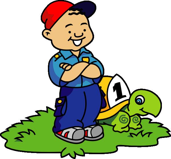 Race clipart turtle. Cartoon boy and clip