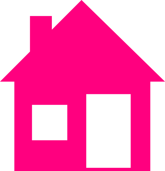 Clip art at clker. Pink house png