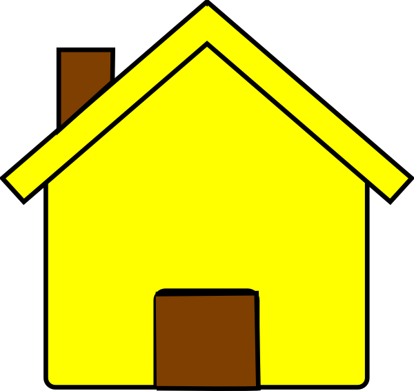 House clipart vector. Yellow clip art at