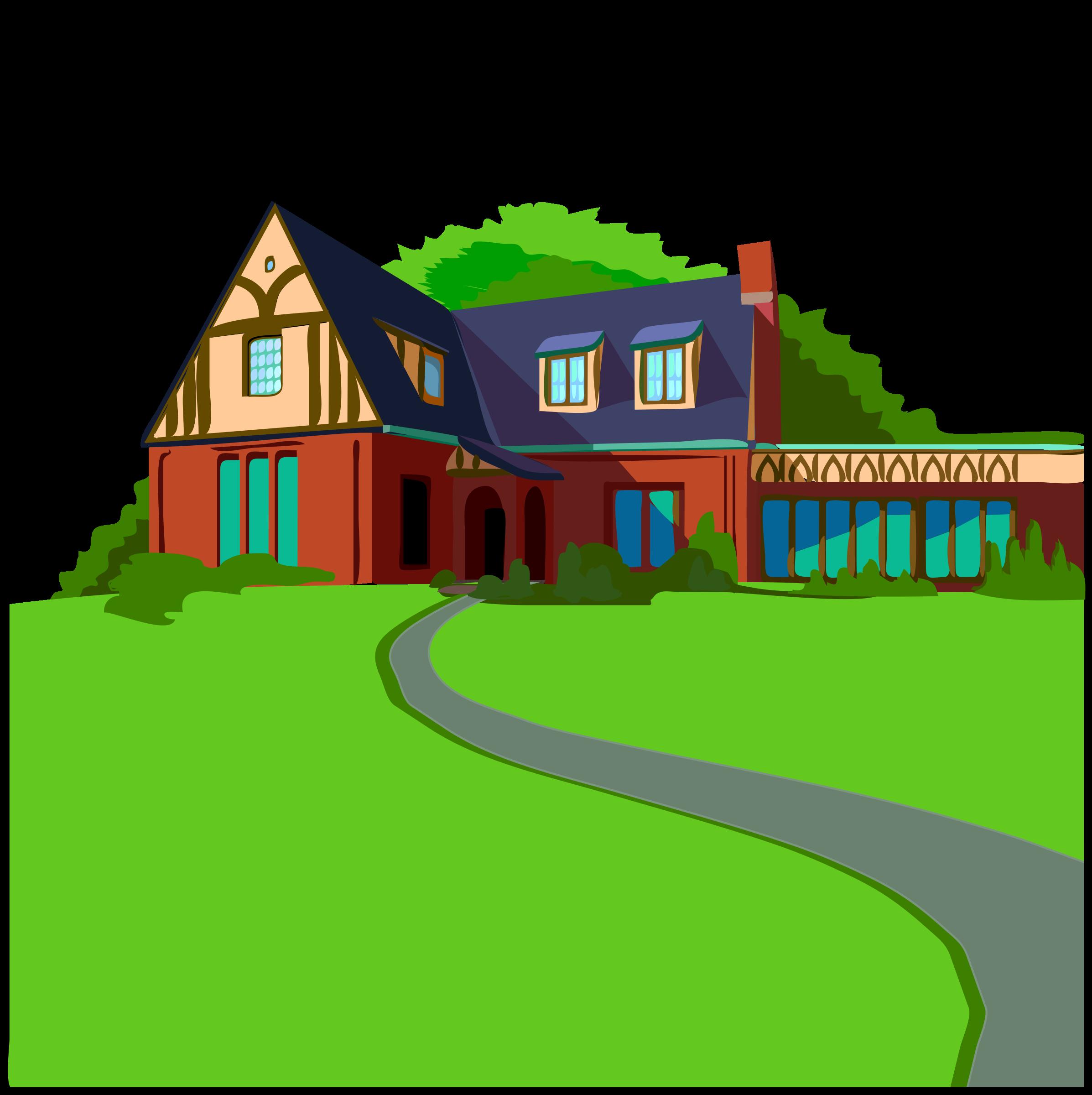 Architetto casa in campagna. Puzzle clipart home
