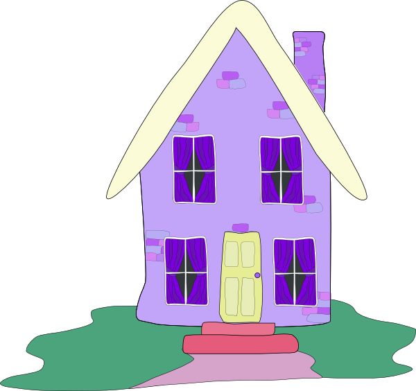 House clipart small. Lilac clip art at