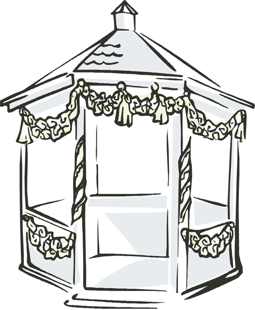 Gazebo . House clipart wedding