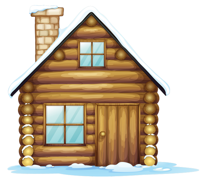 Winter christmas png gallery. Mansion clipart brown house