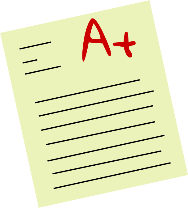 Assignment panda free images. Grades clipart test score