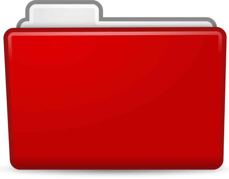Folder clipart school information. Red icon medium image