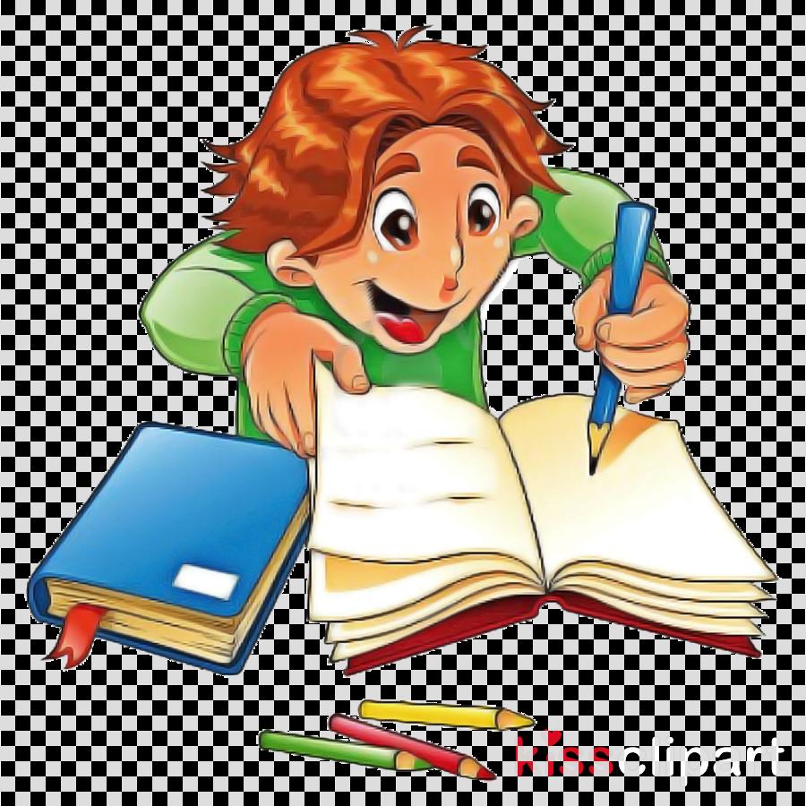 Clipart reading homework. Cartoon clip art learning