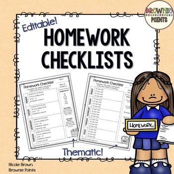 Homework clipart checklist. Checklists