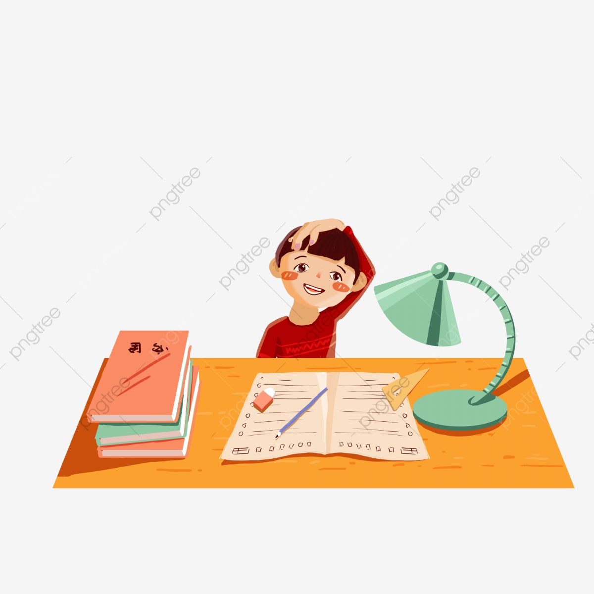 Homework clipart hard homework. Cartoon kids writing design