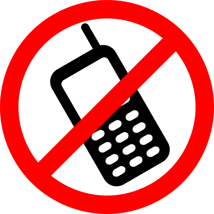 Should phones be banned. Student clipart cell phone