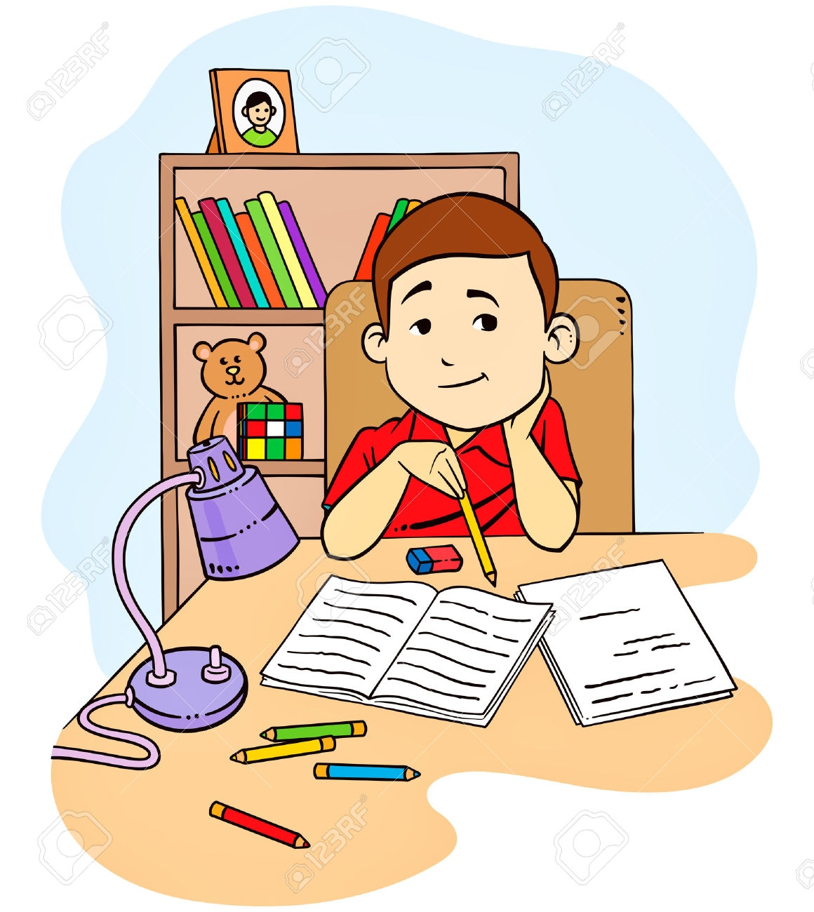 Responsible pencil and in. Clipart homework english homework