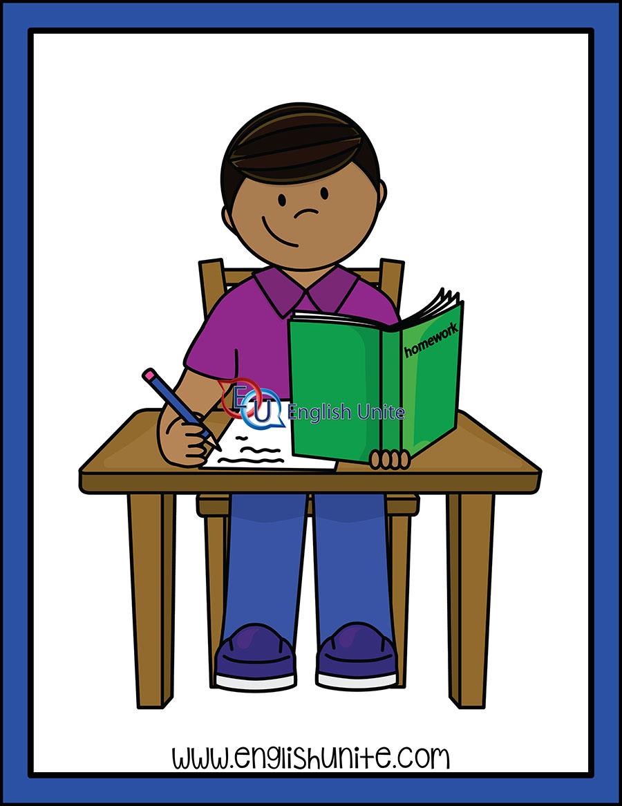 Daily routine do . Clipart homework english homework