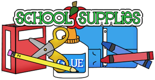 Free school supplies cliparts. Preschool clipart supply