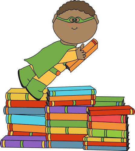 Superheroes clipart super reader.  kid superhero clipartlook